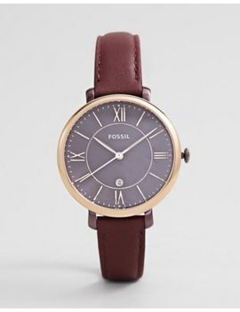 Fossil Es4099 Women's Jacqueline Leather Watch by Fossil