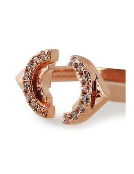 Fitzgerald Circle 18 Karat Rose Gold Plated Zirconium Ring by Astrid & Miyu