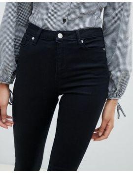 Miss Selfridge High Waist Skinny Jeans In Black by Miss Selfridge