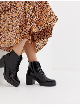 Asos Design Rosa Chunky Lace Up Boots by Asos Design