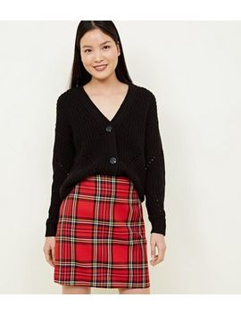 Red Tartan A Line Mini Skirt by New Look