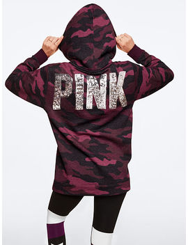 Sequin Bling Sherpa Lined Hood Campus Pullover by Victoria's Secret