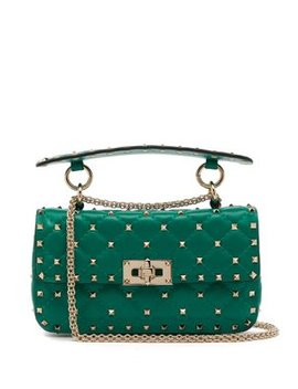 Rockstud Spike Small Quilted Leather Shoulder Bag by Matches Fashion