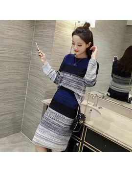 Ashlee   Set: Color Block Sweater + Knit Midi Skirt by Ashlee