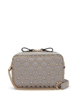 Rockstud Small Quilted Leather Cross Body Bag by Matches Fashion