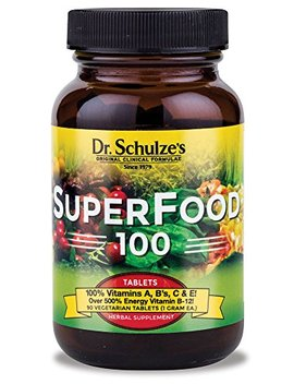 Dr. Schulze's Super Food 100 Vitamin And Mineral Herbal Supplement Tablets (90 Count) by Dr. Schulze's