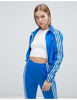 Adidas Originals Three Stripe Track Jacket In Blue by Adidas
