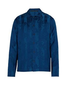 Floral Brocade Linen Blend Shirt by Matches Fashion