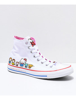 Converse X Hello Kitty Chuck Taylor White Shoes by Converse