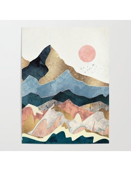 Golden Peaks Poster by