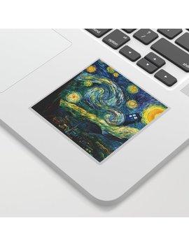 Tardis Art Starry Painting Night Sticker by