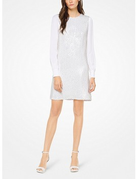 Sequined Viscose Crepe Dress by Michael Michael Kors