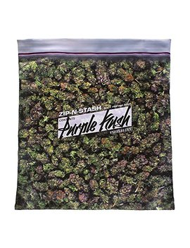 Purple Kush Stash   Baggie Of Cannabis Weed Pillowcase by Steelplant