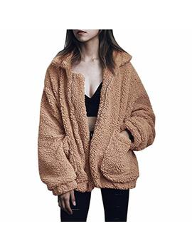 Songang Jackets For Women,Casual Fleece Fuzzy Faux Shearling Warm Winter Oversized Outwear Jackets Shaggy Coat by Songang