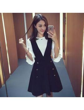 Ashlee   Set: 3/4 Sleeve Knit Top + Jumper Dress by Ashlee