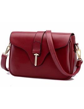 Katoony Girls Pu Leather Geometric Metal Chain Shoulder Handbag Casual Crossbody Messenger Bag Purse by Katoony