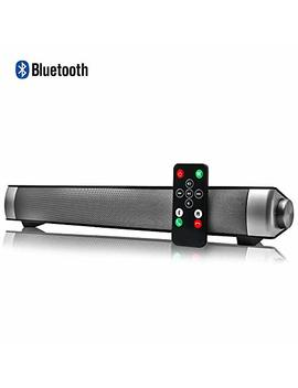 Sound Bar Wired And Wireless Connection 3 D Surround Sound Speaker Bar Bluetooth Home Theater Silver With 2.0 Channel Remote Control Dual Connection Methods For Tv Pc Smartphones Music And Movie by Yoo Gui