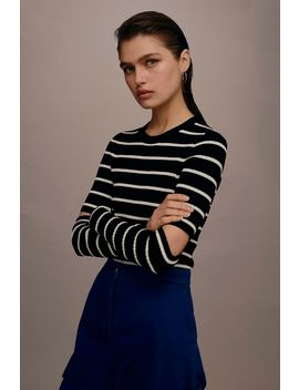 **Stripe Cut Out Jumper By Boutique by Topshop
