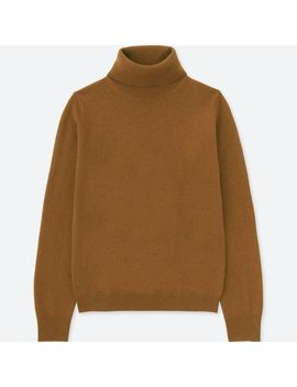 Women Cashmere Turtle Neck Long Sleeve Sweater by Uniqlo