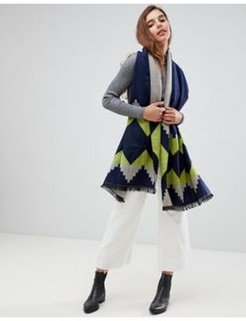 7 X Geometric Knitted Scarf by Scarf