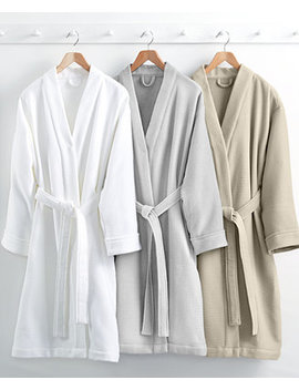 Waffle Weave Robe, 100 Percents Turkish Cotton, Created For Macy's by Hotel Collection