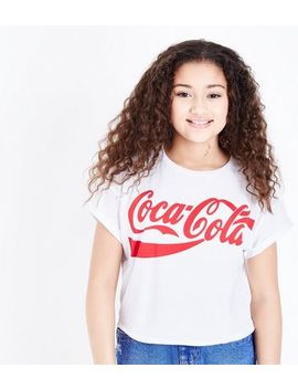 Girls White Coca Cola T Shirt by New Look