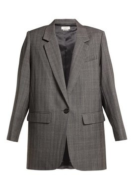 Nerix Single Breasted Wool Blazer by Matches Fashion