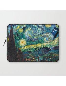 Tardis Art Starry Painting Night Laptop Sleeve by
