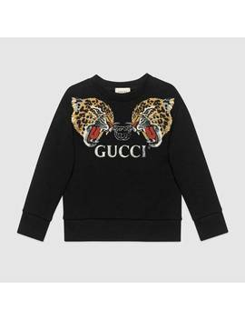 Children's Sweatshirt With Leopards by Gucci