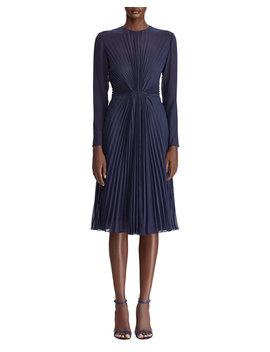 Cleona Starburst Pleated Dress by Neiman Marcus