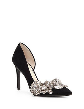 Pruella Embellished D'orsay Pumps by Jessica Simpson