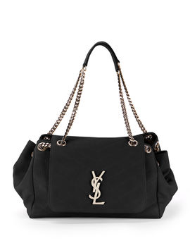 Nolita Large Monogram Ysl Double Chain Shoulder Bag by Saint Laurent