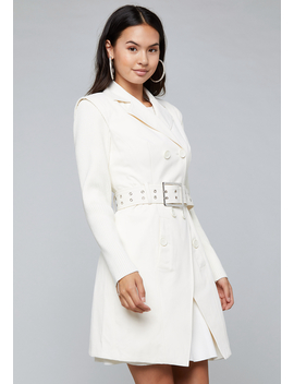 Knit Sleeve Trench Coat by Bebe