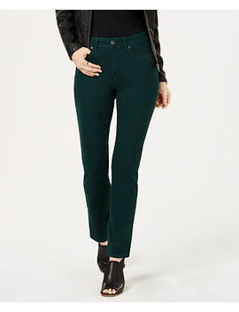 Tummy Control Straight Leg Jeans, Created For Macy's by Style & Co