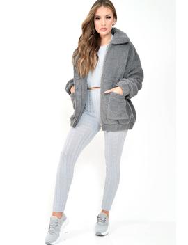 Grey Borg Zipper Front Pocket Coat   Jacklynn by Rebellious Fashion