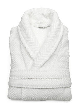 Textiles Unisex Herringbone Weave Bathrobe by Linum Home