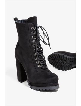Setting The Trend Lace Up Bootie by A'gaci