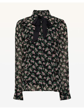 Ditsy Falling Azalea Tie Front Top by Juicy Couture
