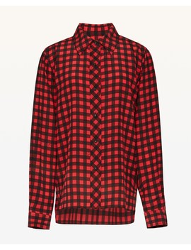 Check Silk Shirt by Juicy Couture