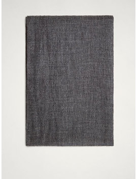 Plain 100 Percents Cashmere Scarf by Massimo Dutti