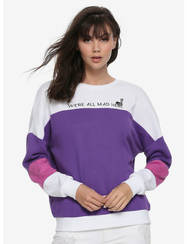 Her Universe Disney Alice In Wonderland Cheshire Cat Color Block Sweater by Hot Topic
