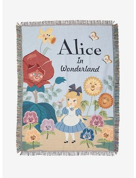 Disney Alice In Wonderland Tapestry Throw Blanket by Hot Topic