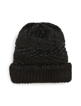 Blocked Yarn Slouchy Beanie by Rebecca Minkoff