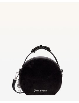 Burnett Black Suede Round Crossbody Bag by Juicy Couture
