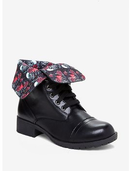 Disney Snow White And The Seven Dwarfs Poison Apple Combat Boots by Hot Topic