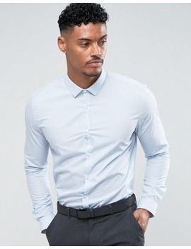River Island Slim Fit Shirt In Light Blue by River Island