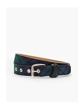 Black Watch Plaid Belt by Talbots