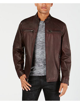 I.N.C. Men's Washed Moto Jacket, Created For Macy's by Inc International Concepts