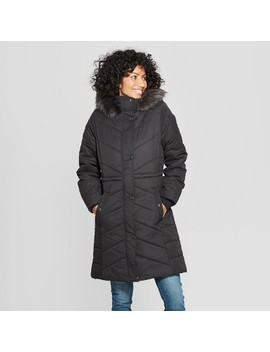 Women's Long Quilted Puffer Jacket   A New Day™ by A New Day