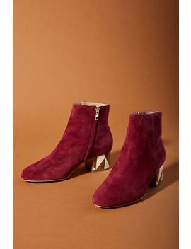 Anthropologie Painted Heel Boots by Anthropologie